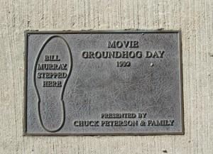 Prlaque_of_Movie(Groundhog_day)_Woodstock,_IL